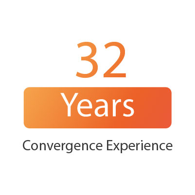 32 years convergence experience